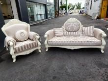 全新 古典優雅雕花1+3人座沙發多件沙發組全新