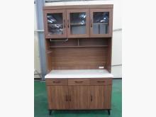 [全新] 【台北二手家具】淺胡桃碗盤餐櫃組碗盤櫥櫃全新