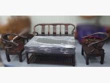 [8成新] A90502 實木沙發大小茶几組木製沙發有輕微破損