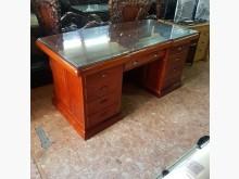 [9成新] 全花梨木辦公桌(附強化玻璃桌面)辦公桌無破損有使用痕跡