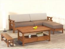 [全新] 馬庫斯全實木L型沙發*不含茶几木製沙發全新