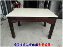 權威二手傢俱/大理石伸縮餐桌餐桌無破損有使用痕跡