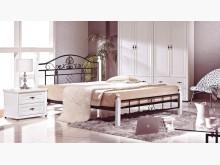 [全新] 麗莎白色5尺鐵製床台雙人床架全新