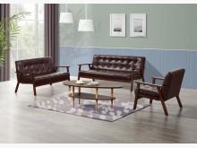 [全新] 英格蘭棕色皮沙發組*不含茶几多件沙發組全新