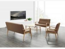 [全新] 娜克莉深咖啡色布沙發組*不含茶几沙發床全新