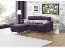 [全新] 金田L型紫色布沙發L型沙發全新