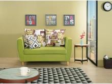[全新] 泰蜜二人座綠色布沙發雙人沙發全新