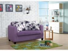 [全新] 貝拉二人座紫色布沙發雙人沙發全新