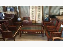 [8成新] 大台北二手傢俱-大理石桌椅組木製沙發有輕微破損