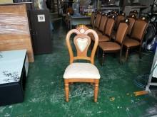 [全新] 合運二手傢俱~全新實木造型餐椅餐椅全新