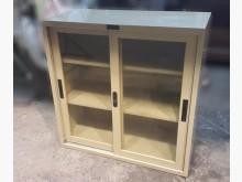 [9成新] 三尺玻璃門鐵櫃 資料櫃 公文櫃辦公櫥櫃無破損有使用痕跡