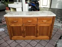 全新品卡洛斯柚木4.2尺石面餐櫃碗盤櫥櫃全新