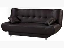 [全新] 依諾斯咖啡色皮面沙發床$7900沙發床全新