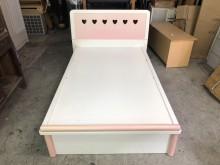 非凡二手家具粉色兒童3.5尺掀床單人床架無破損有使用痕跡