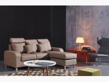 [全新] 德歐雲彩咖啡L型皮沙發L型沙發全新