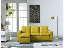 [全新] 多良蘋果綠L型皮沙發L型沙發全新