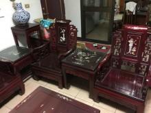 [9成新] 紅木桌椅2椅一几椅子無破損有使用痕跡