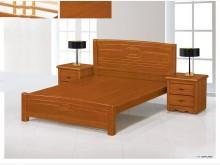 [全新] 萊恩柚木色6尺實木雙人床雙人床架全新