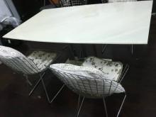 [8成新] 大理石餐桌椅(價錢可議)餐桌有輕微破損