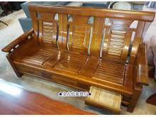 二手 1+2+3人附抽屜木板椅木製沙發有輕微破損