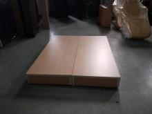 合運二手傢俱~全新木紋雙人床箱雙人床架全新