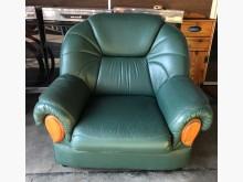 (二手)單人綠皮沙發單人沙發有明顯破損