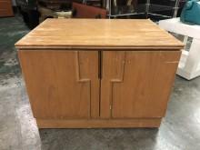 非凡 木紋拉門收納箱收納櫃有輕微破損