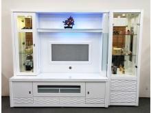 [全新] 藍光8.3尺烤亮白酒櫥 桃區免運高低櫃全新
