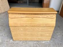 [9成新] 山毛色單人3尺 收納床頭箱床頭櫃無破損有使用痕跡