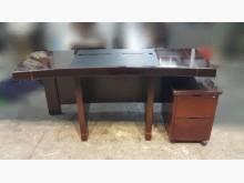 [8成新] E324EF 胡桃主管桌+2抽櫃辦公桌有輕微破損