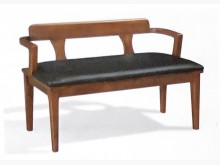 [全新] 3.5尺波力長凳 全實木+透氣皮餐椅全新