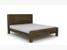 [全新] 開普敦5尺深棕色實木雙人床雙人床架全新