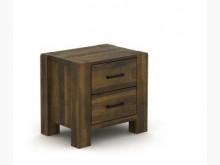 [全新] 開普敦深棕色實木床頭櫃床頭櫃全新