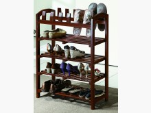 全實木四層鞋架 需自行組裝鞋架/拖鞋架全新