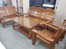 [全新] 毅昌二手家具~全新全實木板椅組木製沙發全新