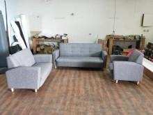 [全新] 合運二手傢俱全新布紋耐磨皮沙發2多件沙發組全新