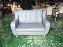 [全新] 合運二手傢俱全新布紋耐磨皮沙發5雙人沙發全新