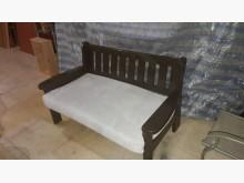 九成新原木座兩人沙發.4千免運木製沙發無破損有使用痕跡