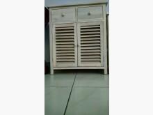 [7成新及以下] 英式雙開木製收納櫃(雅致白)收納櫃有明顯破損
