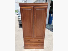 非凡 樟木色實木2.8尺二抽衣櫃衣櫃/衣櫥無破損有使用痕跡