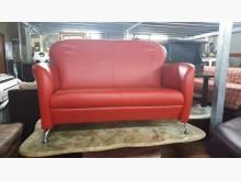 00325-雙人皮沙發(紅)雙人沙發全新