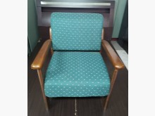 [9成新] 三合二手物流(實木布面單人椅)木製沙發無破損有使用痕跡