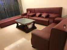 [95成新] 半皮沙發1+2+3人座多件沙發組近乎全新