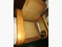 單人橡木籐沙發籐製沙發無破損有使用痕跡