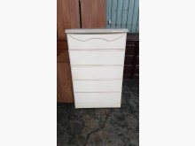 [9成新] 00458-白色五斗櫃床頭櫃無破損有使用痕跡