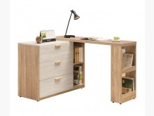 [全新] 葛洛莉L型雙色伸縮書桌 桃區免運書桌/椅全新