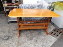 00486-實木餐桌餐桌無破損有使用痕跡