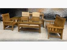 [全新] 全新樟木木頭椅 123含大小茶几木製沙發全新