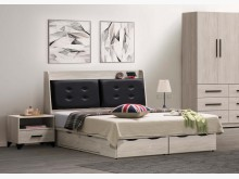 [全新] 班森6尺床頭+6抽床底雙人床架全新
