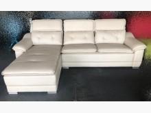 [全新] 全新庫存米白大L型毛抓皮沙發L型沙發全新